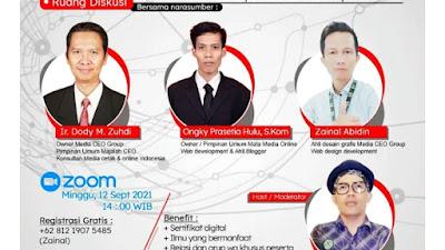 Dody M Zuhdi Mendukung & Sukseskan Webinar Tanya Jawab Seputar Media Cetak & Online
