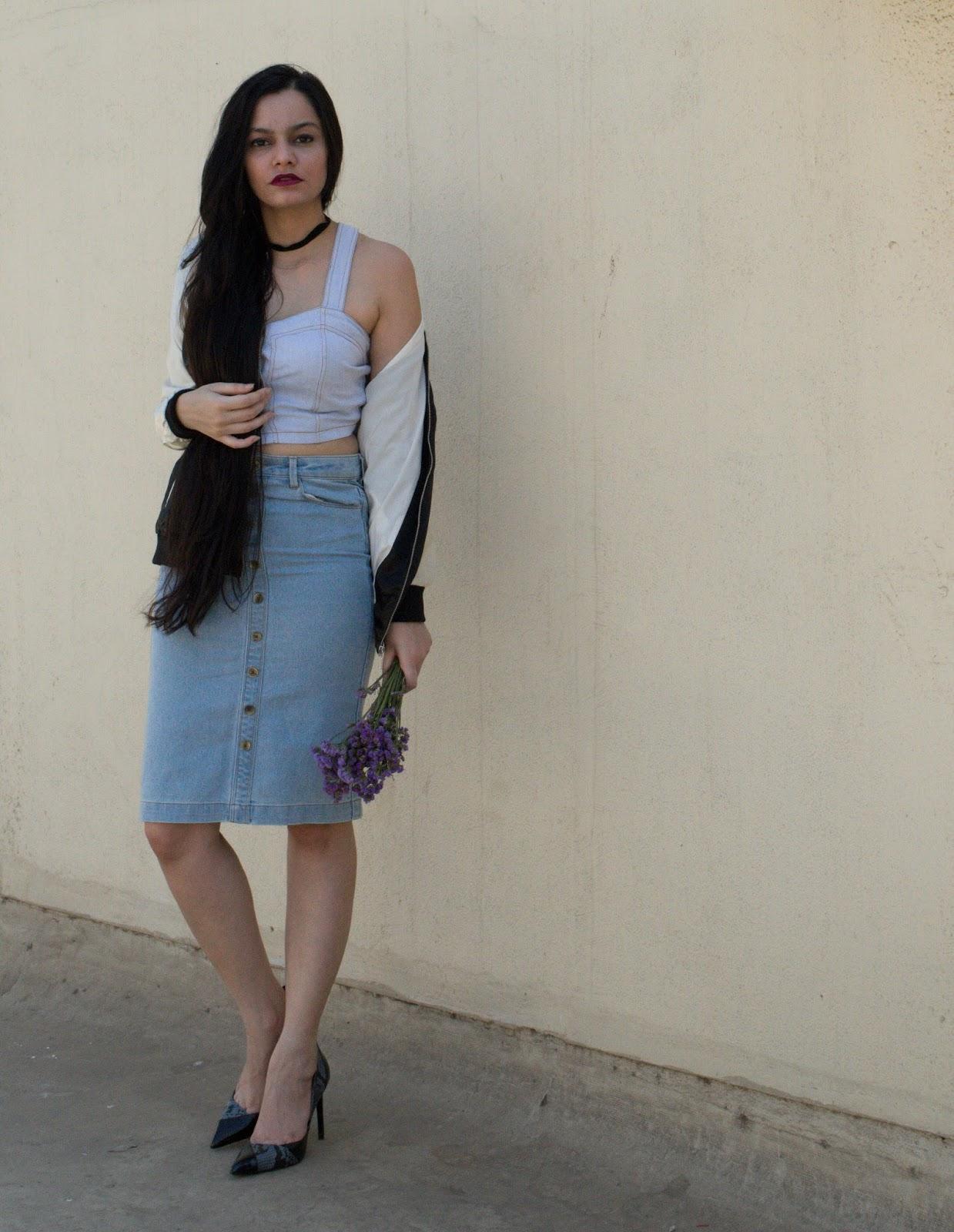 8275380baf How to Wear Denim on Denim Effortlessly in Summer - Chiconomical