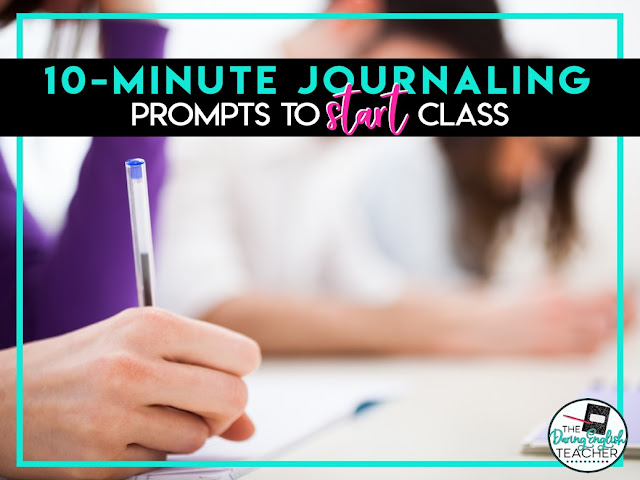 Journaling ideas for the secondary ELA classroom