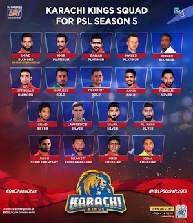 Karachi Kings PSL Team Squad 2020 | PSL 2020