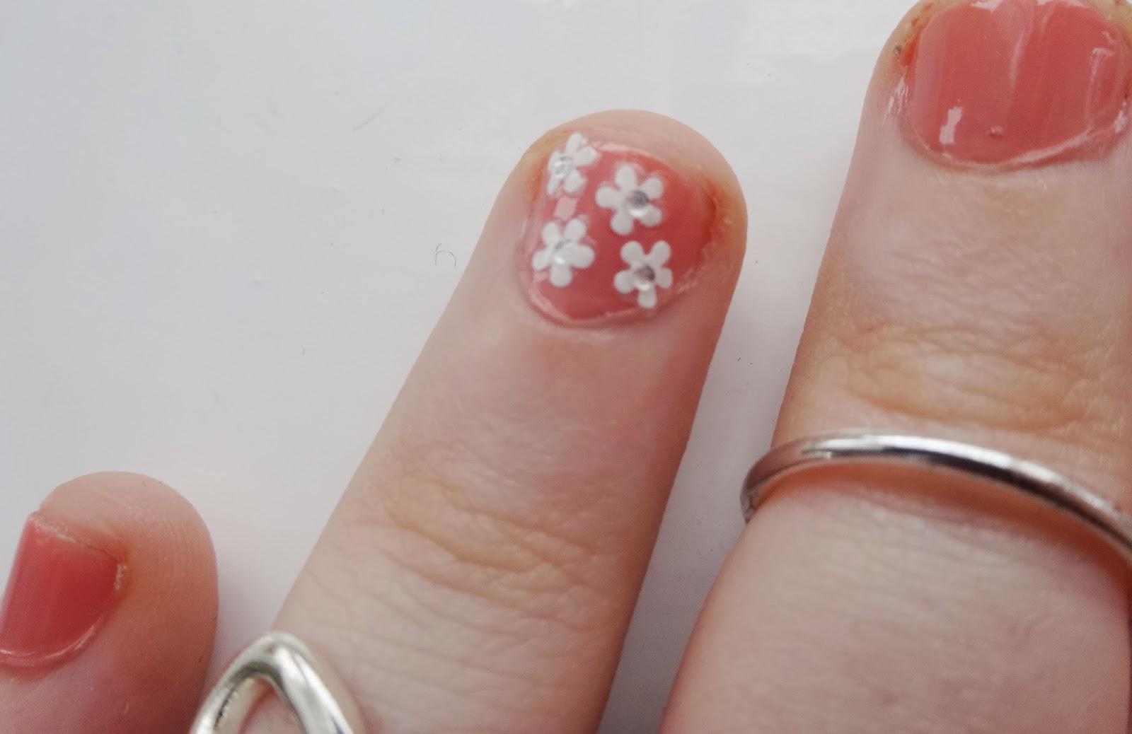 Spring Peach Nails
