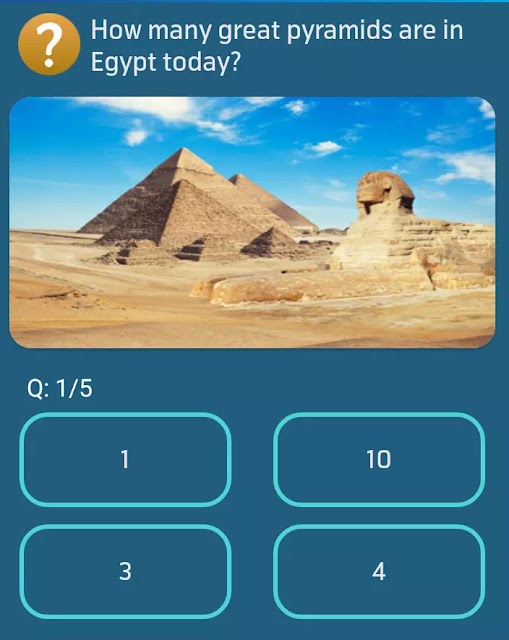 How many great pyramids are in Egypt today?
