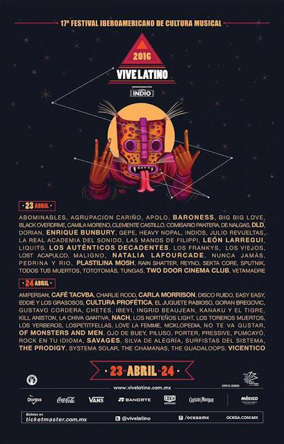 cartel, vive latino 2016, artistas, line up