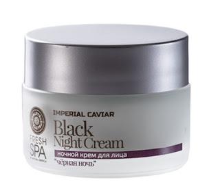 """Kem dưỡng da mặt ban đêm Natura Siberica \""""Đêm đen\"""" thuộc dòng Imperial Caviar"""