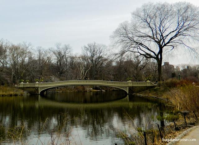 Bow Bridge, no Central Park, Nova York