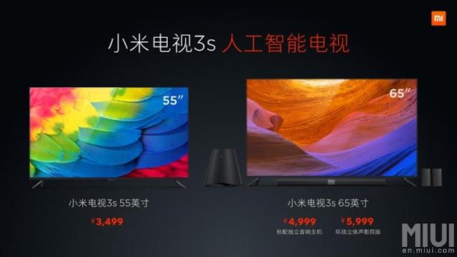 Mi TV 3S - Televisão barata da Xiaomi