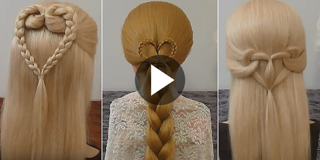 Learn - How To Make 3 Best And Easy Heart Braid Hairstyle, See Tutorial