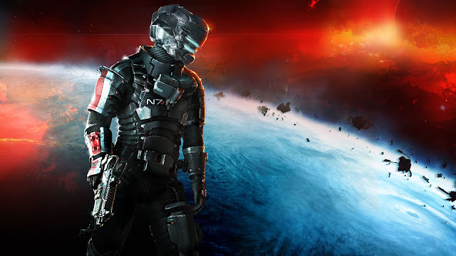 dead space 3 mass effect n7 armor papel de parede para desktop