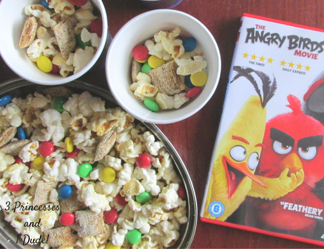 Angry Birds Themed Popcorn Mix