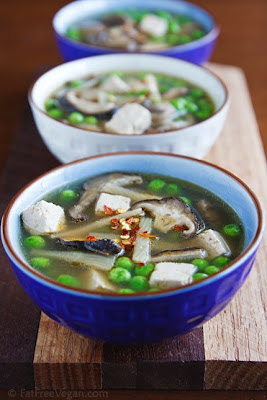 Vegan Hot and Sour Soup, made in the Slow Cooker!  (From Fat Free Vegan Kitchen via Slow Cooker from Scratch0