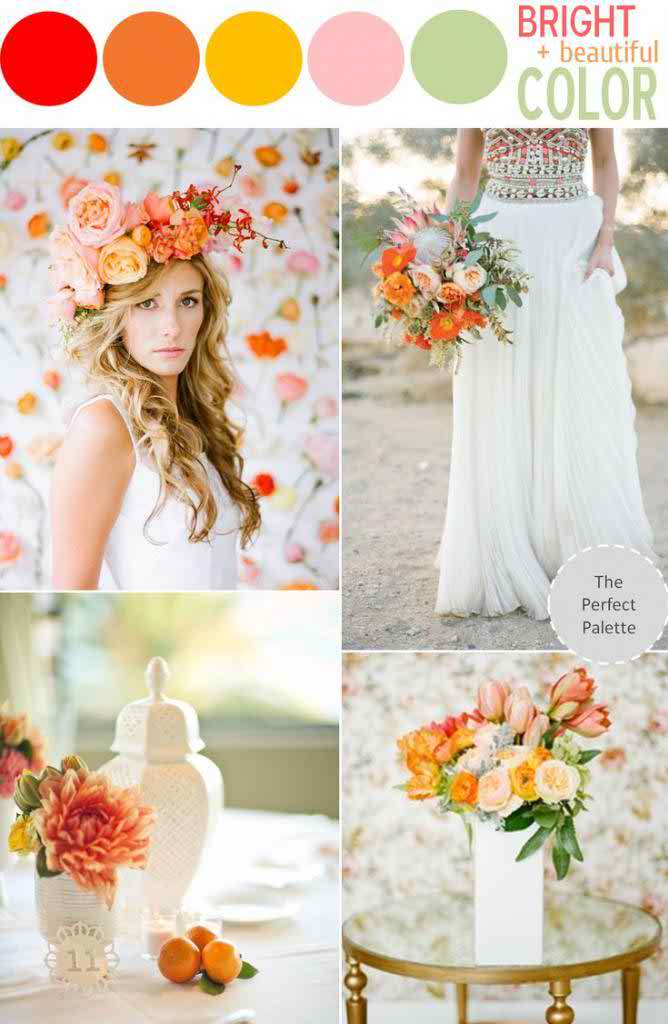 5 swoon worthy color schemes for summer the perfect palette for Summer wedding color combinations