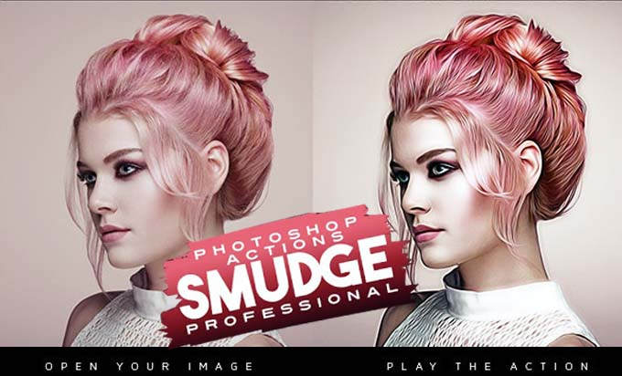 Smudge Professional Photoshop Actions