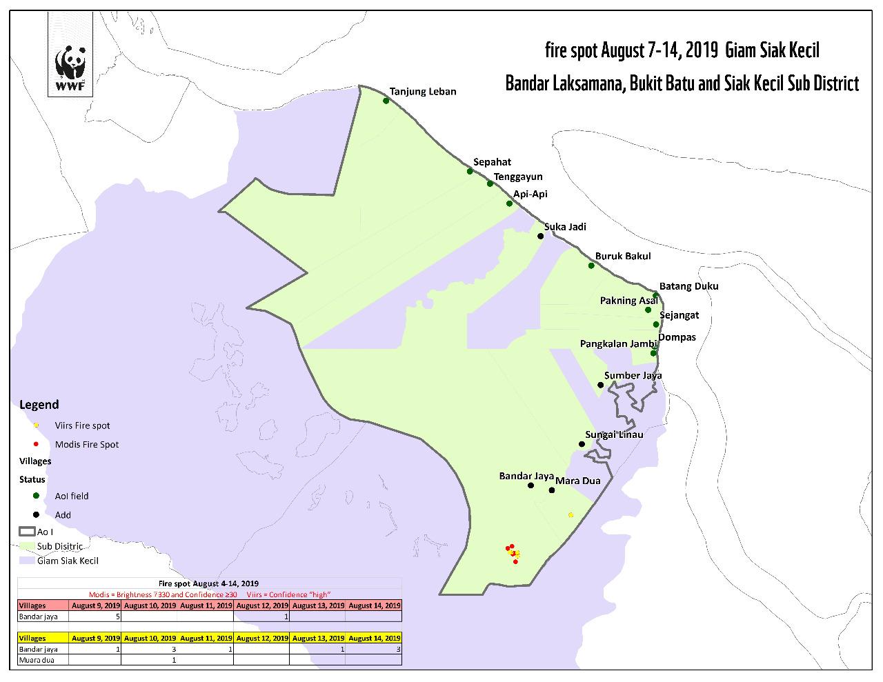 Peta Hotspot di Kecamatan Bukit Batu dan Bandar Laksamana ...