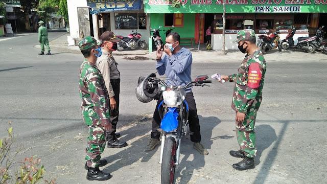 Kecamatan Manisrenggo Gelar Aksi  Peduli Penggunaan Masker