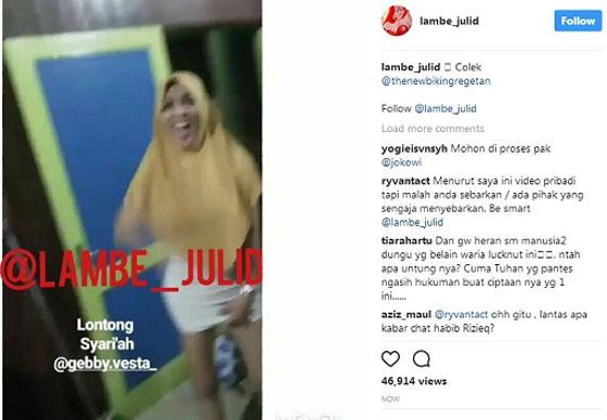 Video Gebby Vesta Pakai Jilbab Sambil Pamer Celana Dalam