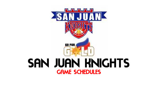 LIST: Game Schedule San Juan Knights 2018 MPBL Anta Datu Cup