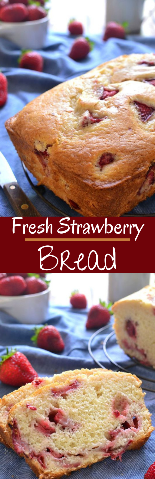 Fresh Strawberry Bread #cake #baking