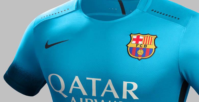 buy online 4b7c0 1406c FC Barcelona 15-16 Third Kit Released - Footy Headlines