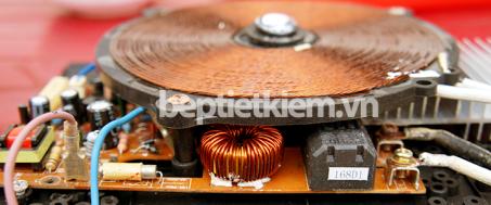 """Cấu tạo cuộn dây bên trong giúp tạo ra sóng điện từ """"đun nóng"""" các vật dụng kim loại sắt từ"""