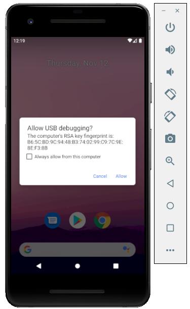 Khởi động máy ảo Android