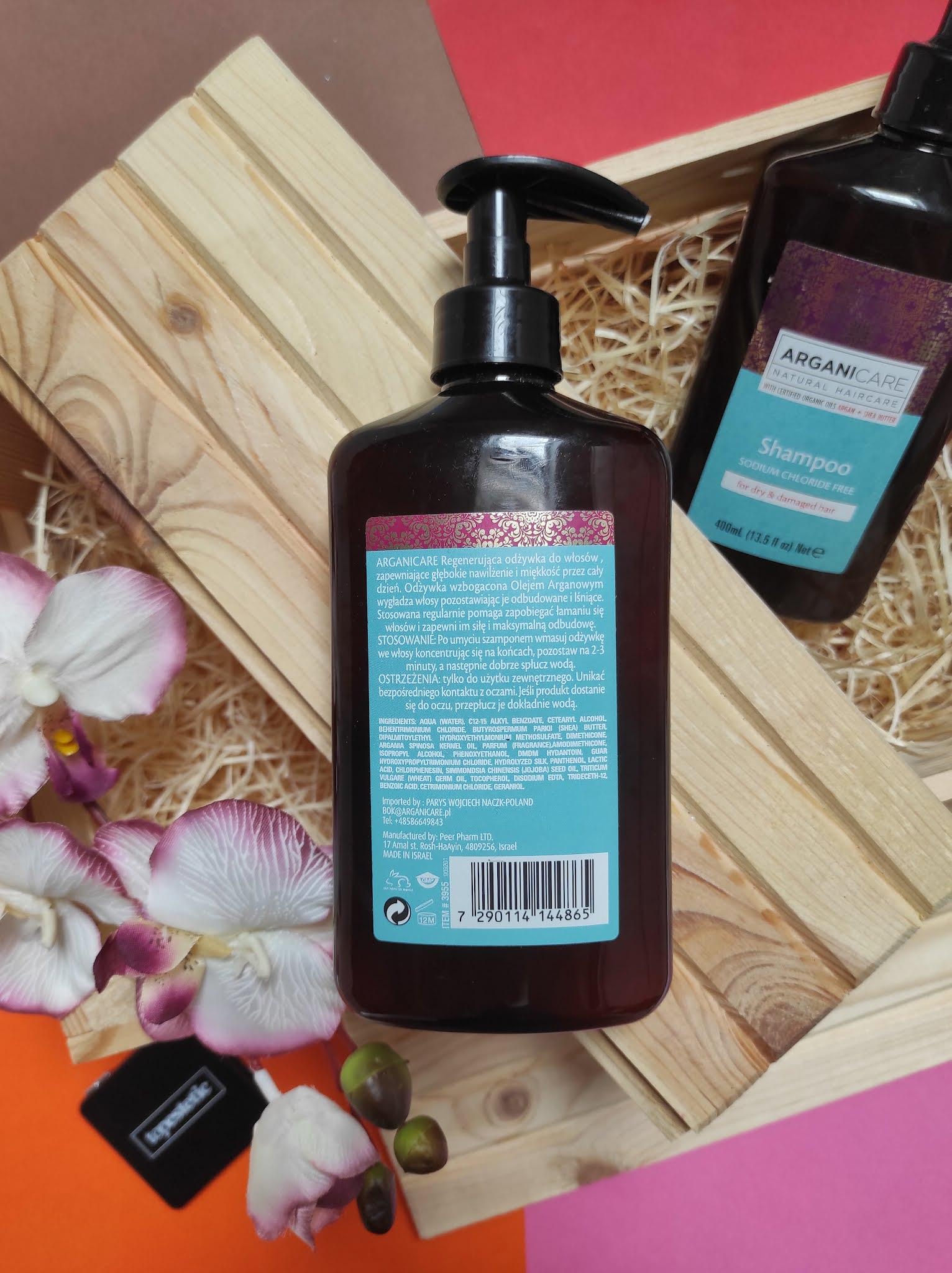 Odżywka do włosów suchych i zniszczonych Arganicare Shea Butter 400 ml.