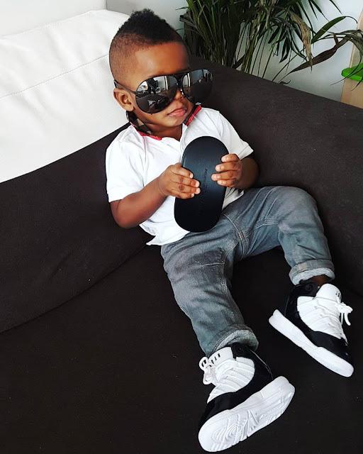 Jim Iyke shares cute photo of his son rocking his shades