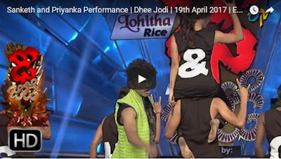 Sanketh and Priyanka At Dhee Jodi on 19th April 2017 in ETV Telugu