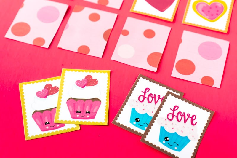 Use these free printabls to make this fun memory game with ease this Valentine's Day