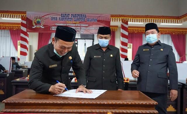 Raperda Kabupaten Layak Anak di Sahkan DPRD Lampung Selatan