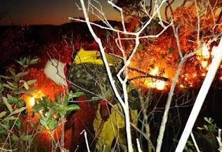 Incêndio em Rio de Contas destrói aproximadamente 118 hectares de Área de Proteção Ambiental