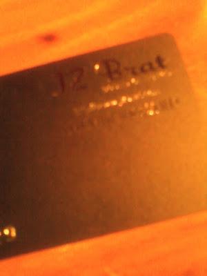 JZ Brat MEMBERS CARD