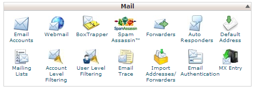 Mail Options cPanel - Linux