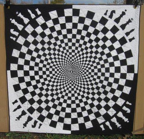 Chess Vortex Quilt Free Pattern