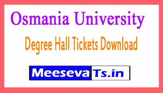 Osmania University (OU) Degree Hall Tickets Download 2017