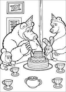 יום הולדת מאשה והדוב לצביעה