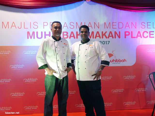 Chef Wan and Chef Bala at the launch of Muhibbah Makan Place Food Court @ Plaza Alam Sentral, Shah Alam