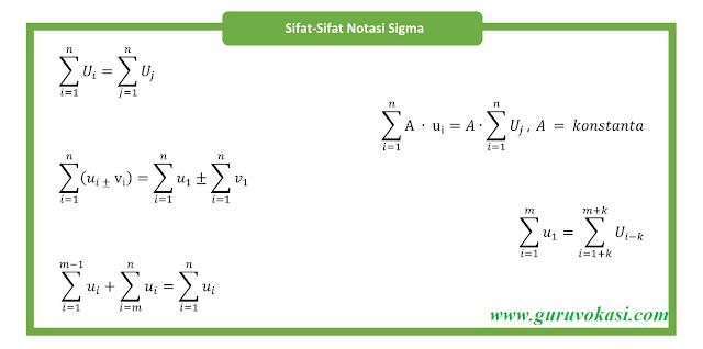 Sifat sifat notasi sigma