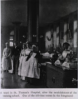 Nursing A vintage snapshot of life at St Thomas' hospital London.
