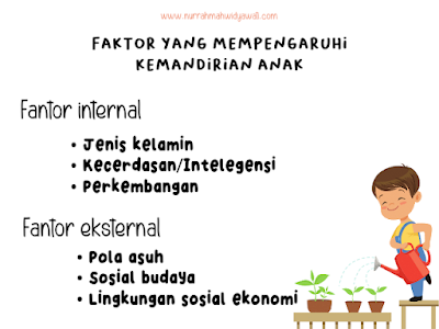 faktor yang mempengaruhi kemandirian anak