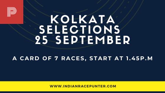 Kolkata Race Selections 25 September