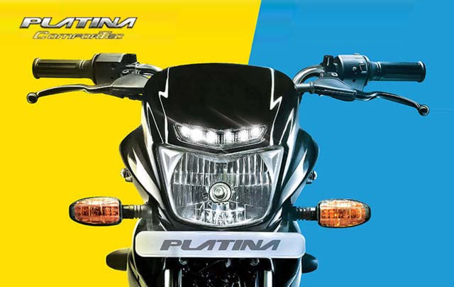 New 2018 Bajaj Platina Comfortec LED drl light