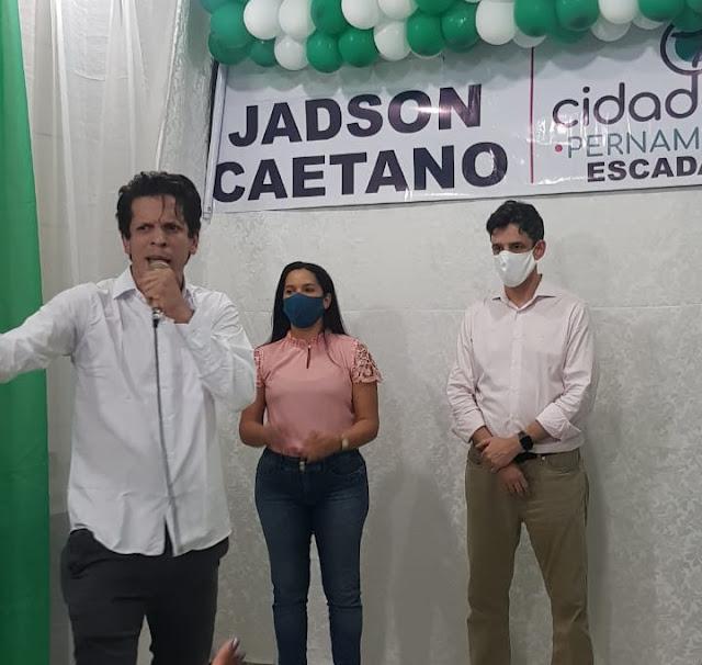 Cidadania homóloga candidatura de Jadson Caetano e Professora Angela para a prefeitura de Escada
