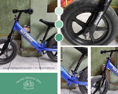 mengajari anak bersepeda dengan balance bike
