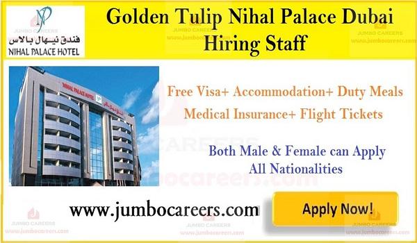Job openings in Dubai Hotel, Available jobs in UAE,