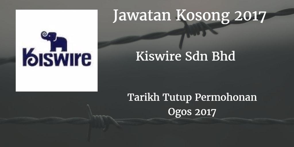 Jawatan Kosong Kiswire Sdn. Bhd. Ogos 2017