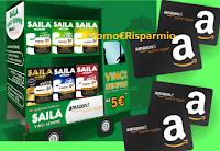 Logo '' Vinci con Saila'': con 3 astucci un buono Amazon da 5€ come premio certo!