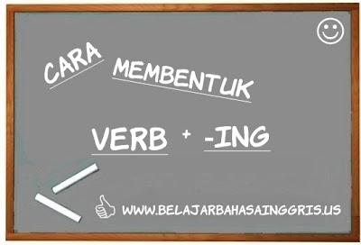 Pembentukan Verb + ing, Care membentuk Verb + ing, Present Participle.