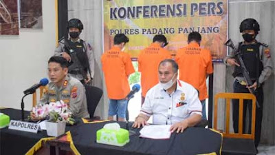 Polres Padang Panjang Bekuk Pelaku Curanmor, 3 Kendaraan Disita