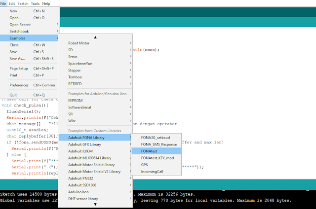 Arduino SIM800 SMS relay control