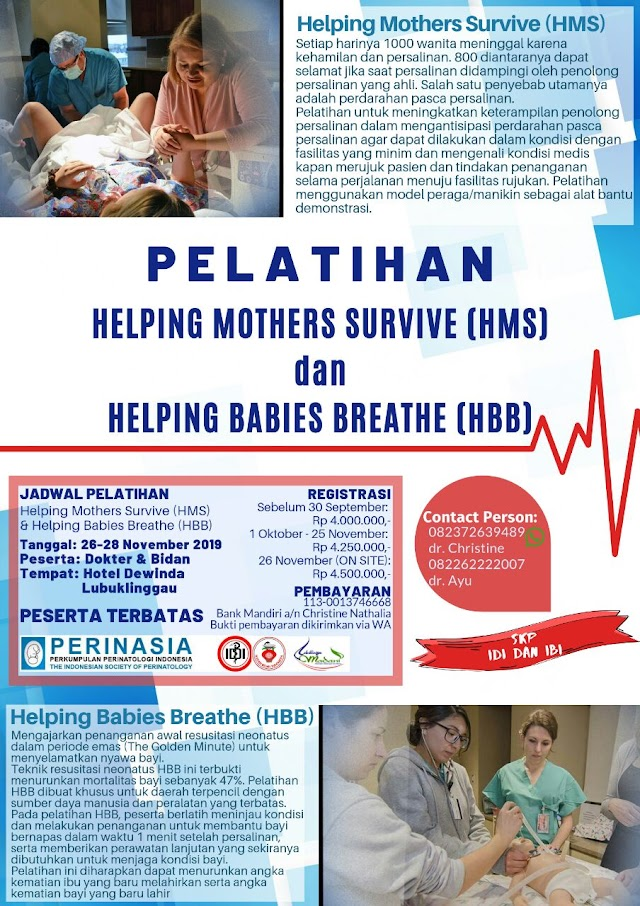 PELATIHAN  HELPING MOTHERS SURVIVE AND HELPING BABIES BREATH